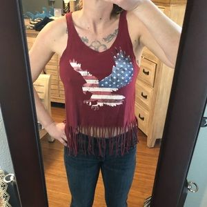 Charlotte Russe American crop top size S